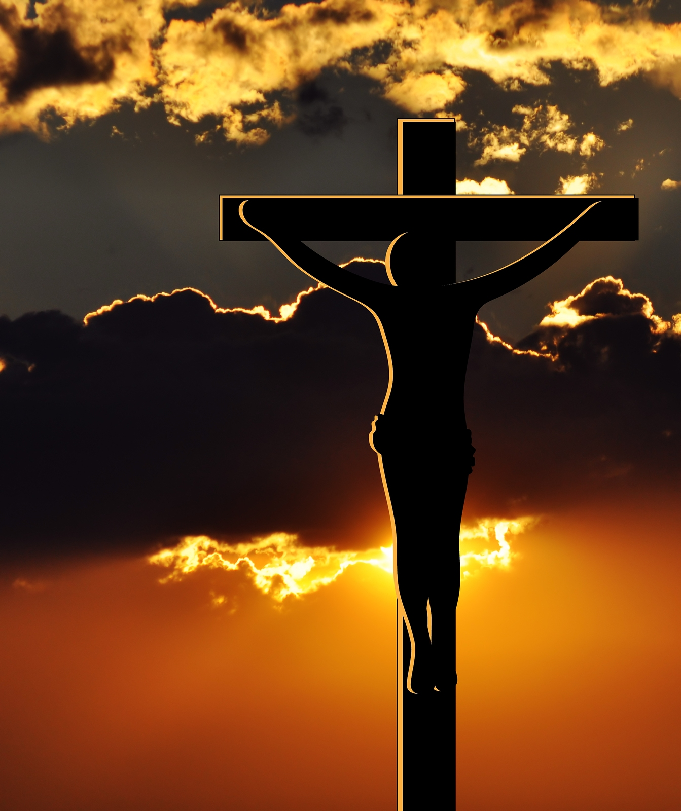 Crucifixion Of Jesus Christ At Sunset Gospel Of Peace Church